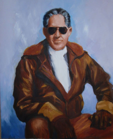 Portrait of Texas Painter Ken Arthur painted by his wife, Pam Arthur