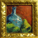 Texas painter Ken Arthur Blue Vase with Pears Acrylic on Canvas painting