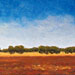 Texas painter artist Ken Arthur Stonewall Sky Texas Hill Country Painting - Oil on Board