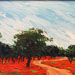 Texas painter artist Ken Arthur - Spanish Trail Texas Hill Country Painting - Oil on Board