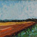 Texas painter artist Ken Arthur - Plowed Fields Texas Hill Country Painting - Oil on Board