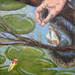 Texas painter artist Ken Arthur - Retrieving the Lure Painting - Oil on Board