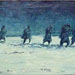 Texas painter artist Ken Arthur - Soldiers in Snow Painting- Oil on Canvas painting